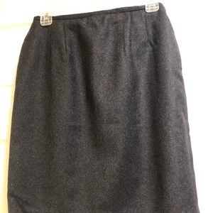Charcoal grey wool skirt